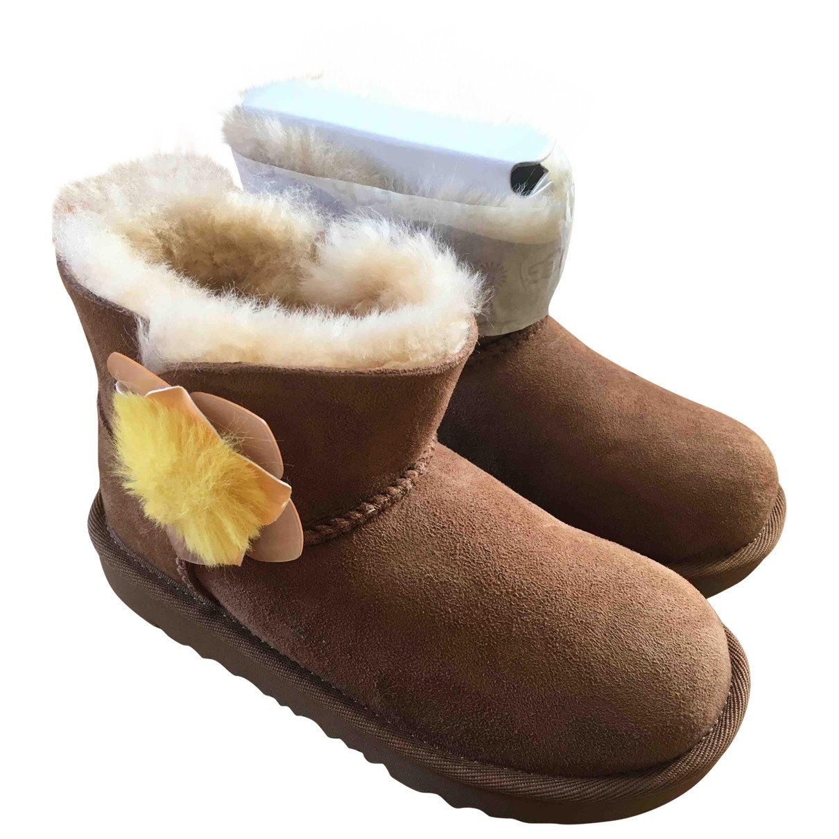 Ugg \N Beige Leather Boots for Kids 31 EU