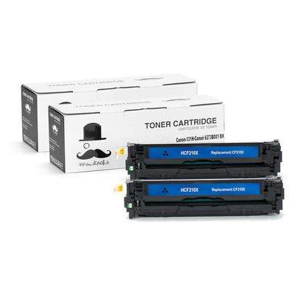 Compatible Canon 131H 6273B001AA Black Toner Cartridge High Yield - Moustache@ - 2/Pack