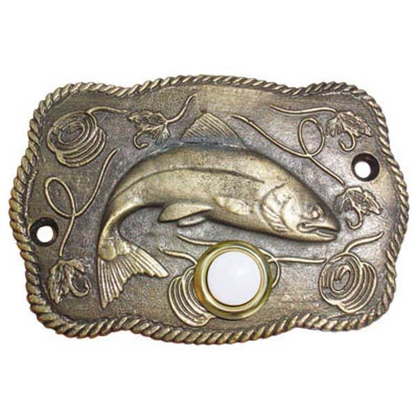 Trout Scene Door Bell, Oil Rubbed Bronze, Model 914ORB