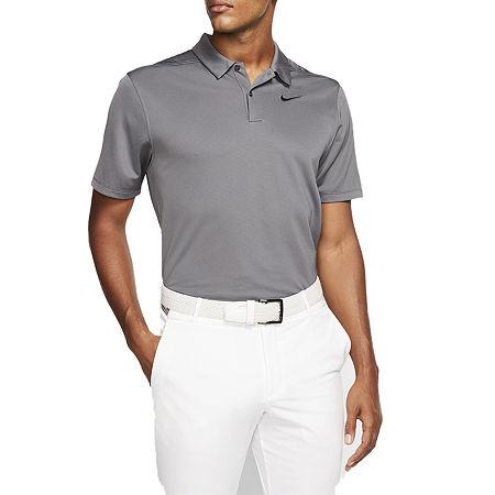 Nike Dri-Fit Essential Solid Mens Short Sleeve Polo Shirt, Medium , Gray