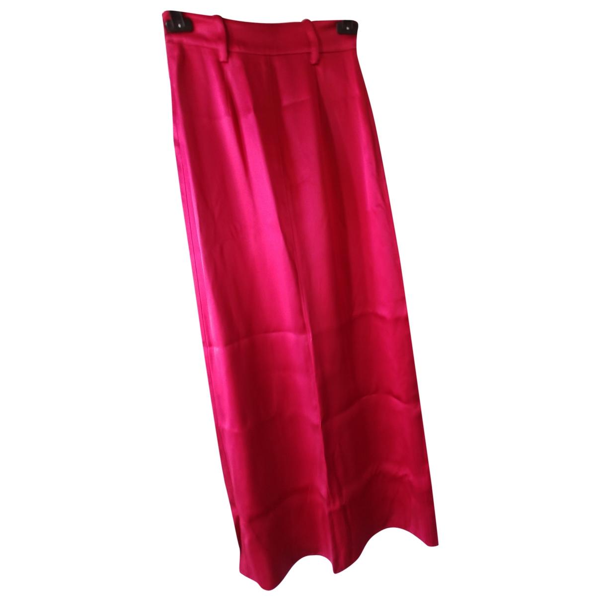 Prada \N Red Silk skirt for Women 38 IT