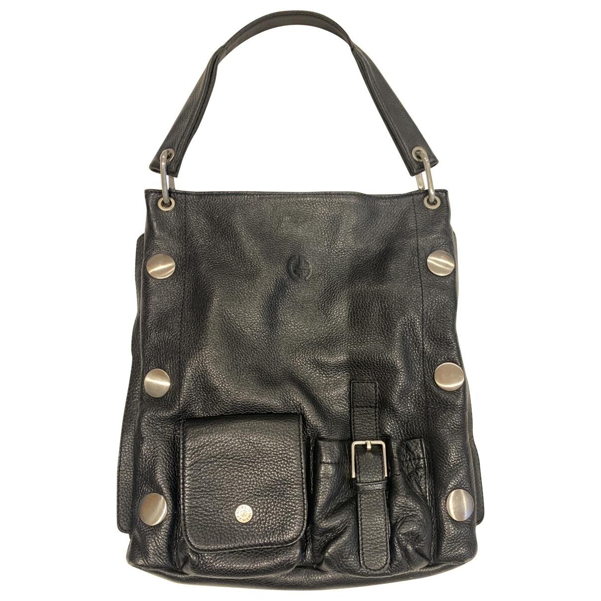 Giorgio Armani \N Black Leather handbag for Women \N