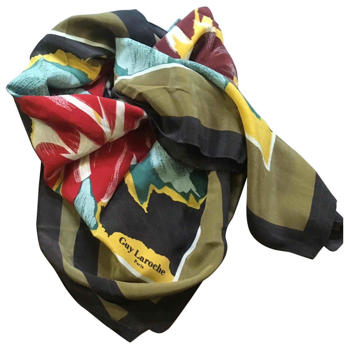 Guy Laroche \N Multicolour Silk Silk handkerchief for Women \N