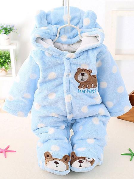 Milanoo Toddler Kigurumi Onesie Pajamas Flannel Jumpsuit Bear Costume