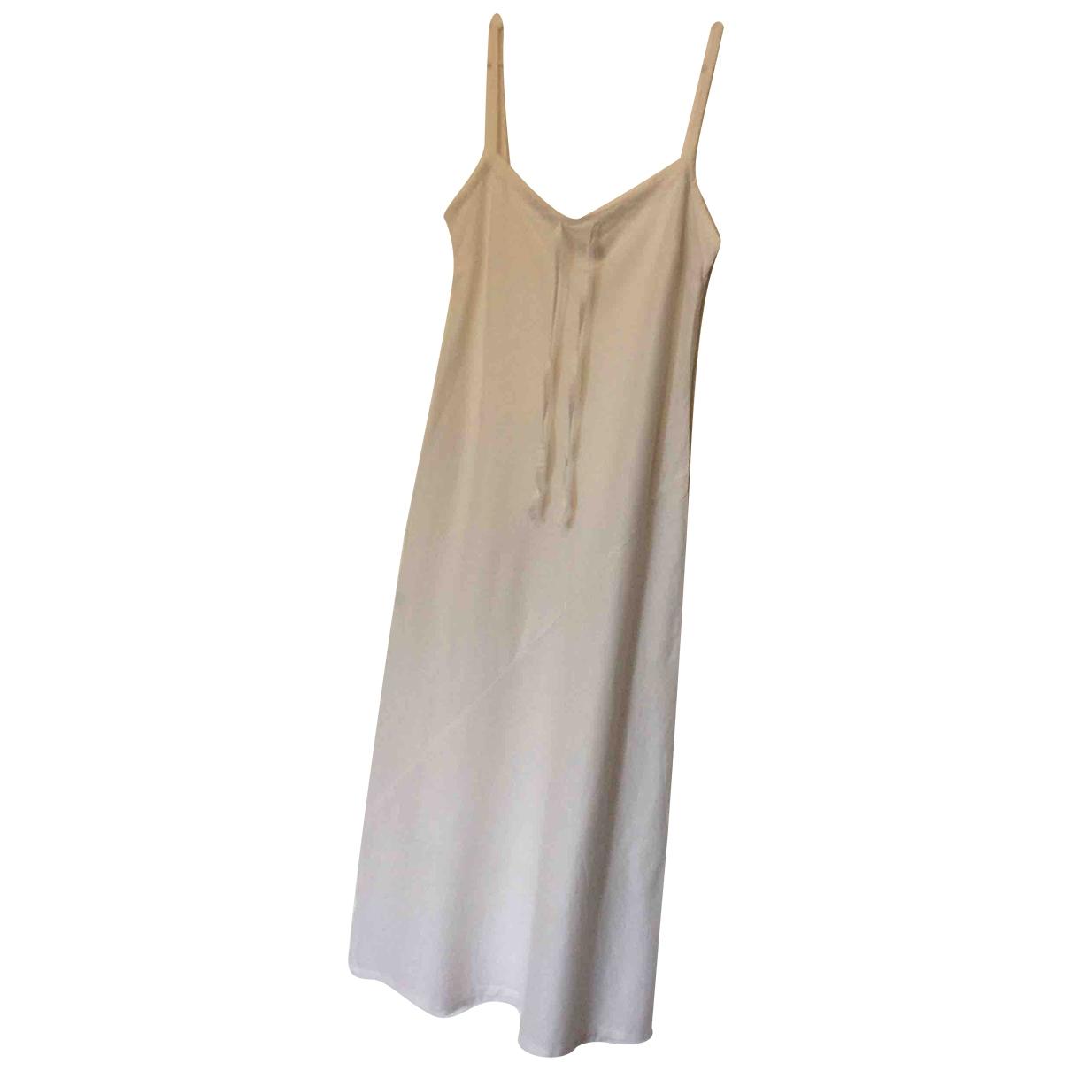 Non Signé / Unsigned \N White Linen dress for Women 44 IT