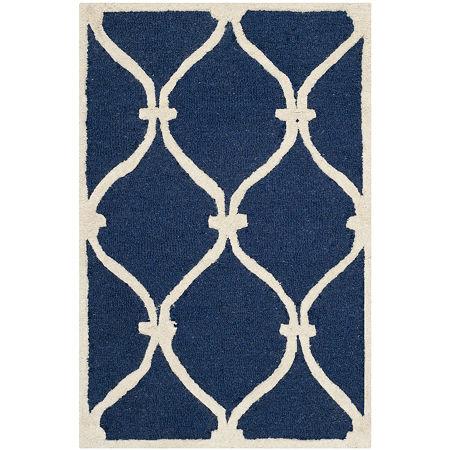 Safavieh Bois Geometric Hand-Tufted Wool Rug, One Size , Blue