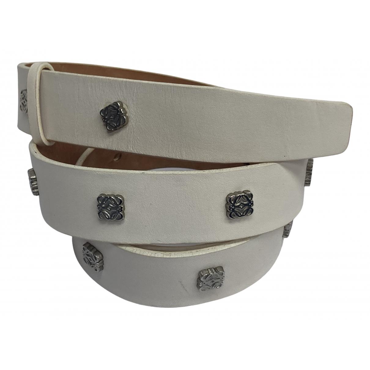 Loewe \N White Leather belt for Women 85 cm