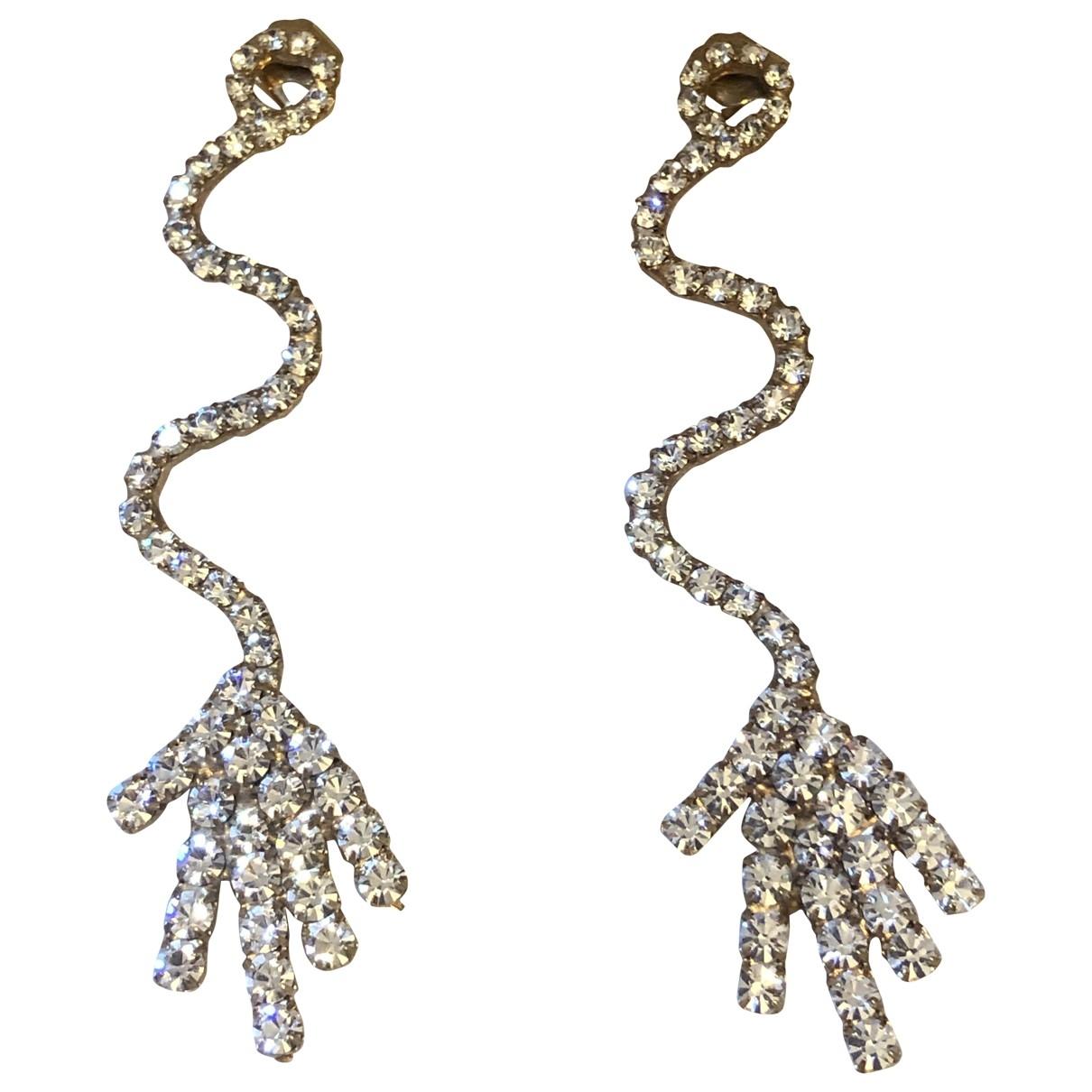 Gcds \N Gold Metal Earrings for Women \N
