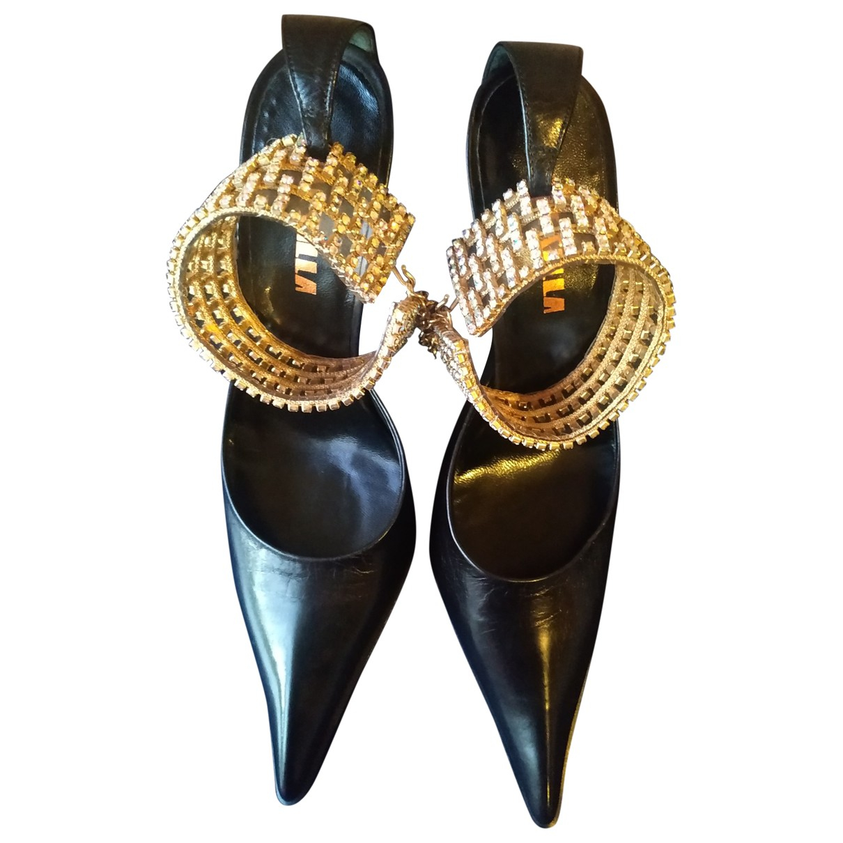 Le Silla \N Black Leather Sandals for Women 36 IT