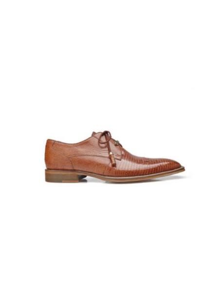 Belvedere Exotic Skin Brand Genuine Tan Leather Lining Insole Shoe