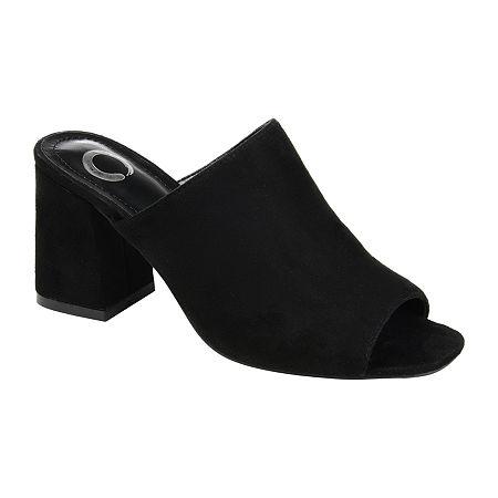 Journee Collection Womens Adelaide Slide Sandals, 6 1/2 Medium, Black