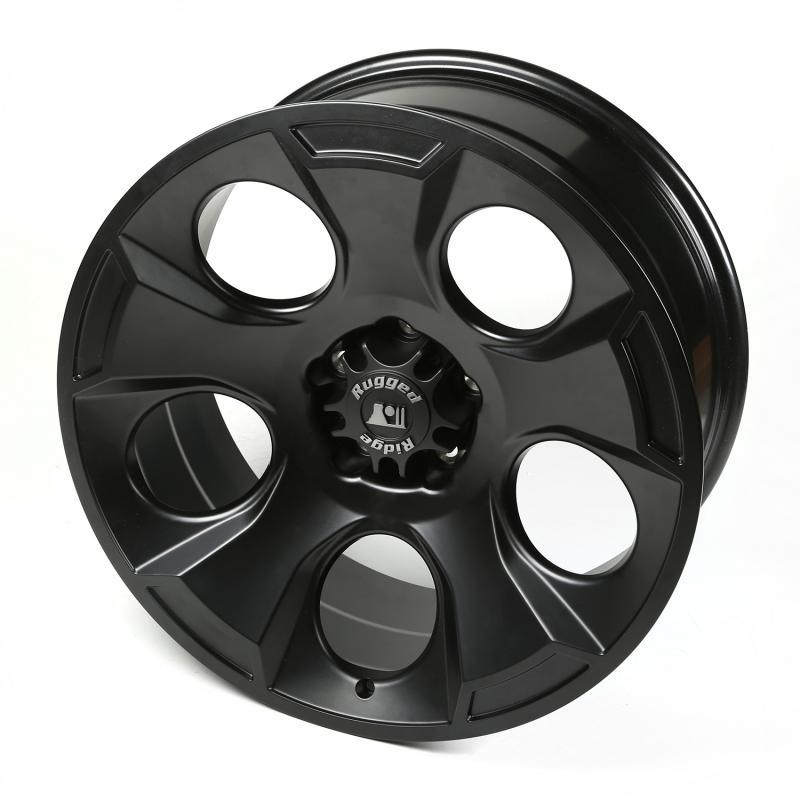 Rugged Ridge 15304.01 Drakon Wheel, 20x9, Black Satin; 07-20 Jeep Wrangler / 2020 Gladiator Jeep
