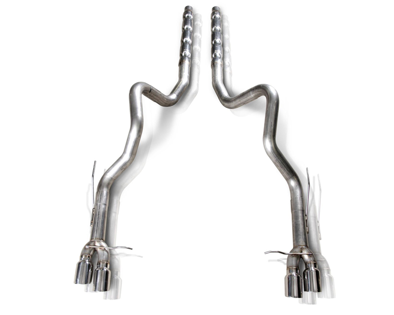 Stainless Works M13GTL 3in Dual Catback Retro Exhaust without Resonator Ford Mustang Shelby GT500 5.8L 13-14