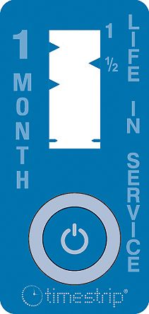 Timestrip Non-Reversible Time Indicator Label, 19 x 40 mm, 1 Month