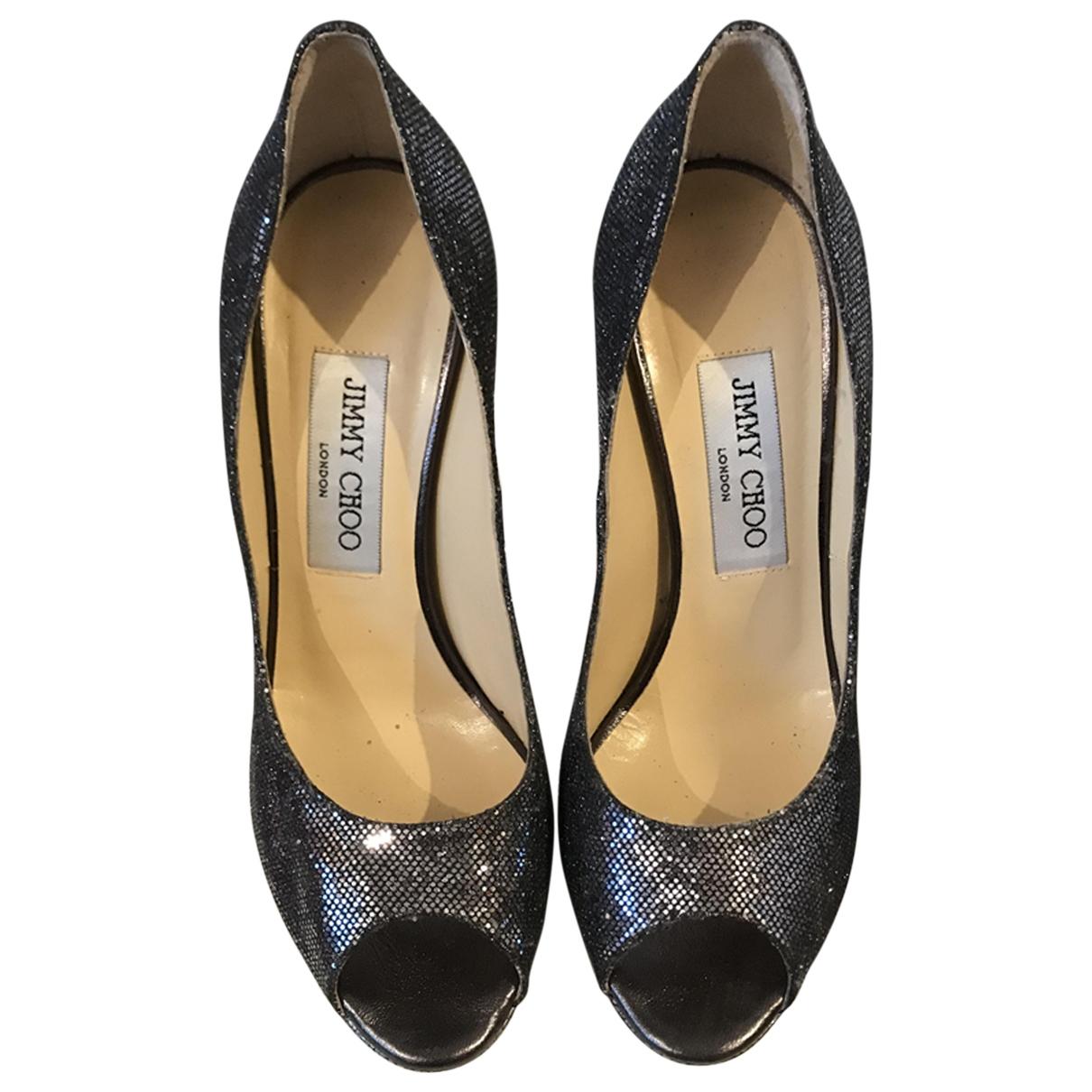 Jimmy Choo \N Blue Glitter Sandals for Women 36.5 EU