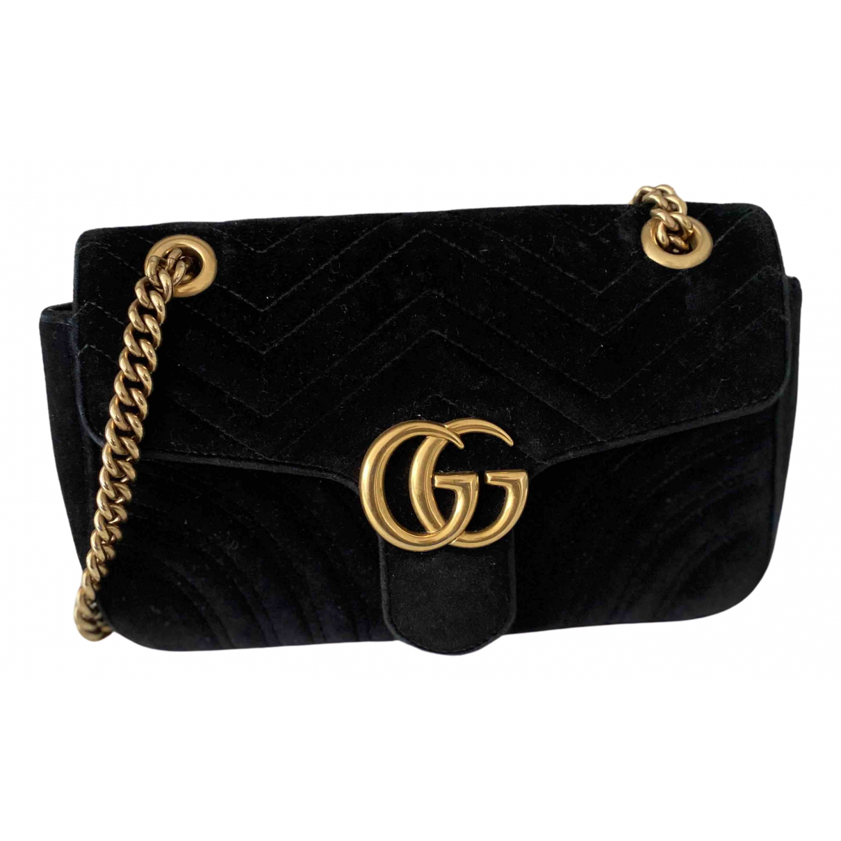 Gucci Marmont Black Suede handbag for Women \N