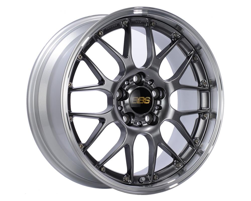 BBS RS-GT Wheel 18x8 5x130 50mm Diamond Black | Diamond Cut Rim