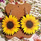 Sunflower Wooden Earrings