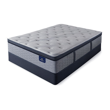 Serta Perfect Sleeper Kingsburg Plush Pillowtop - Mattress + Box Spring, One Size , Blue