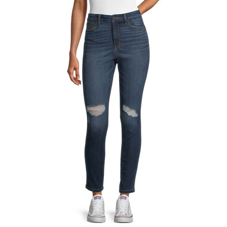 Arizona - Juniors Real Curve Womens High Rise Skinny Fit Jean, 0 , Blue