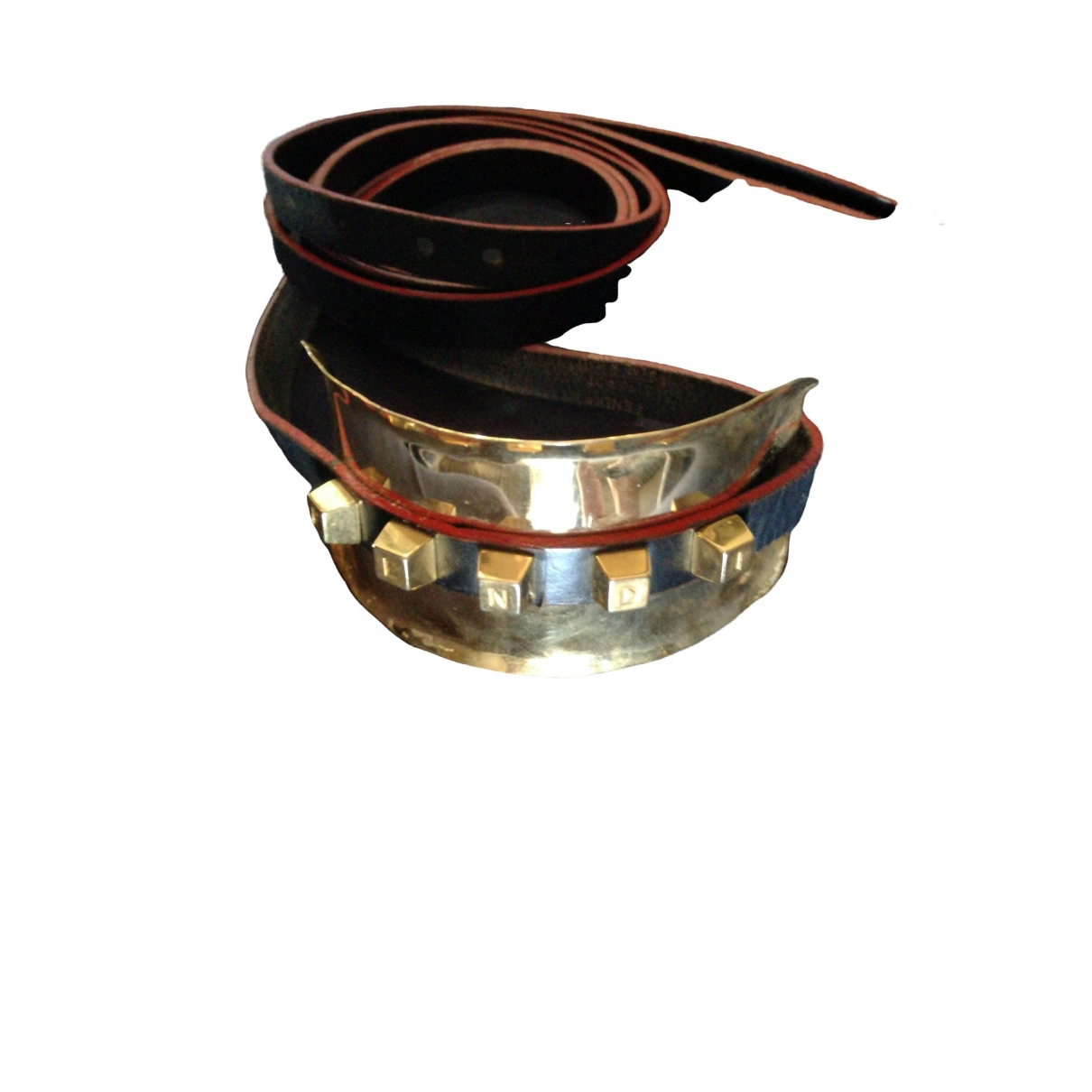 Fendi \N Black Leather necklace for Women \N