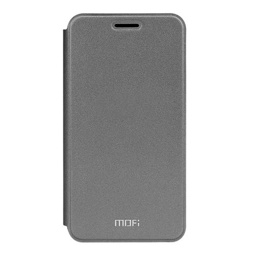Gray Meilan M3 Note Leather Case MOFI Rui Series Flip Stand Cover Screen Protecor