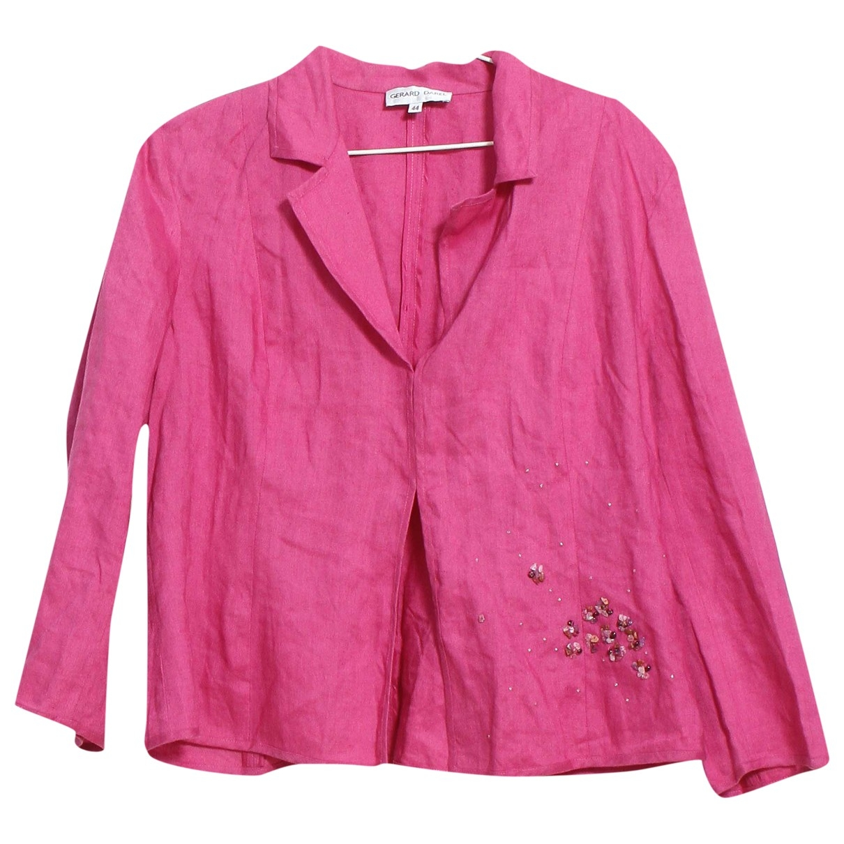 Gerard Darel \N Pink Linen jacket for Women 44 FR