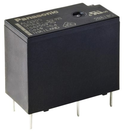 Panasonic , 24V dc Coil Non-Latching Relay SPDT PCB Mount Single Pole