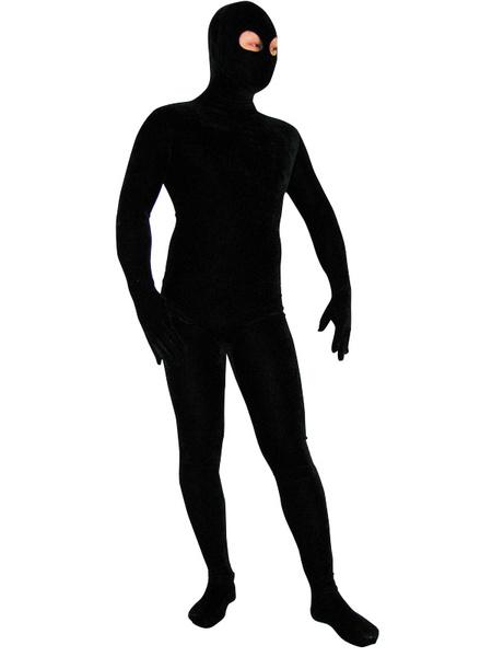 Milanoo Halloween Morph Suit Black Lycra Spandex Catsuit with Eyes Opened