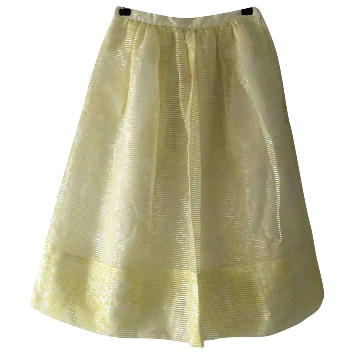 Whistles \N Yellow Cotton skirt for Women 6 UK