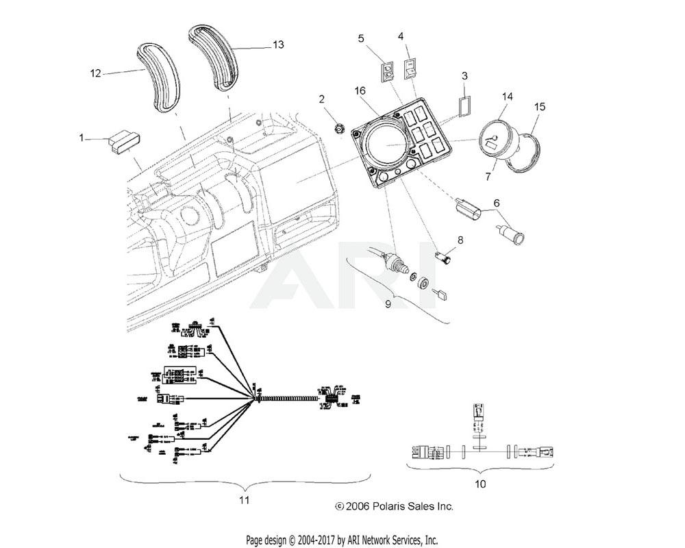 Polaris OEM 5412294 Grommet, Gear Shift Plug