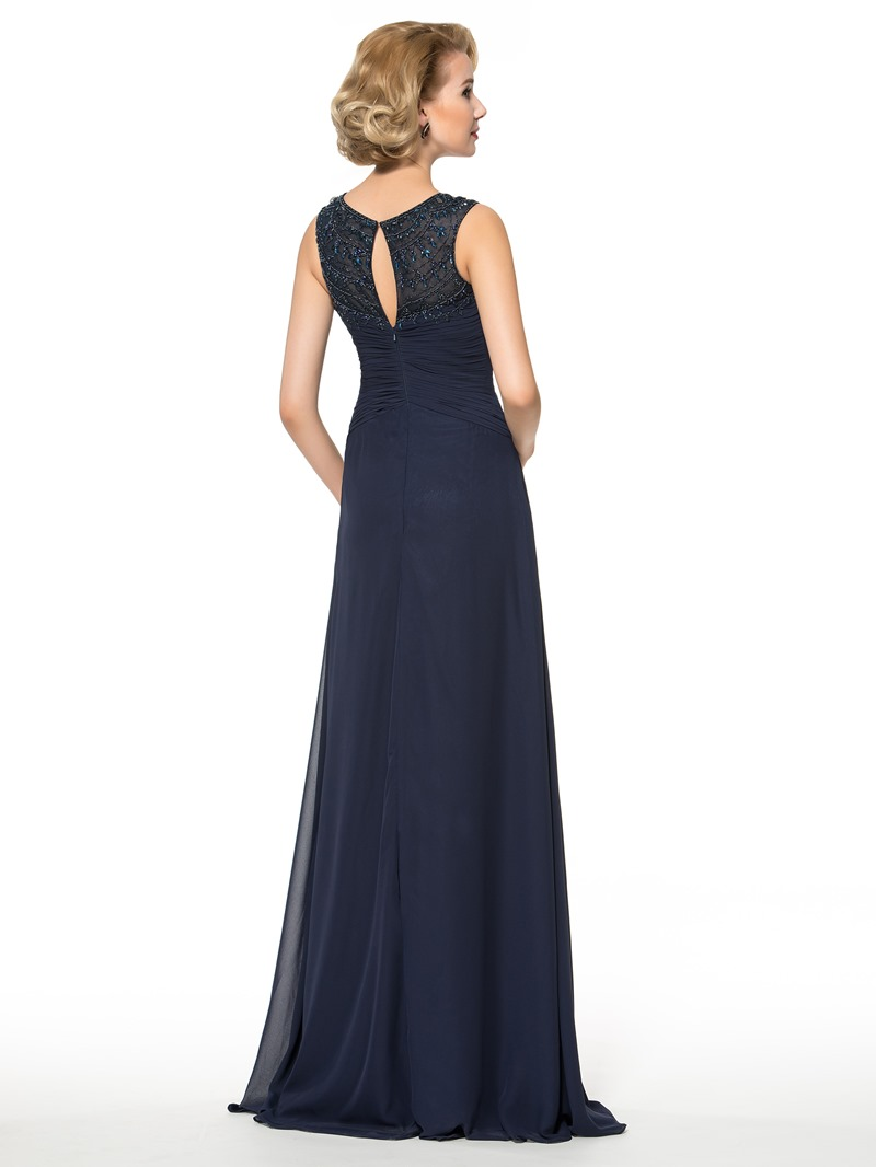 Ericdress Straps Pleats Beading Mother of the Bride Dress