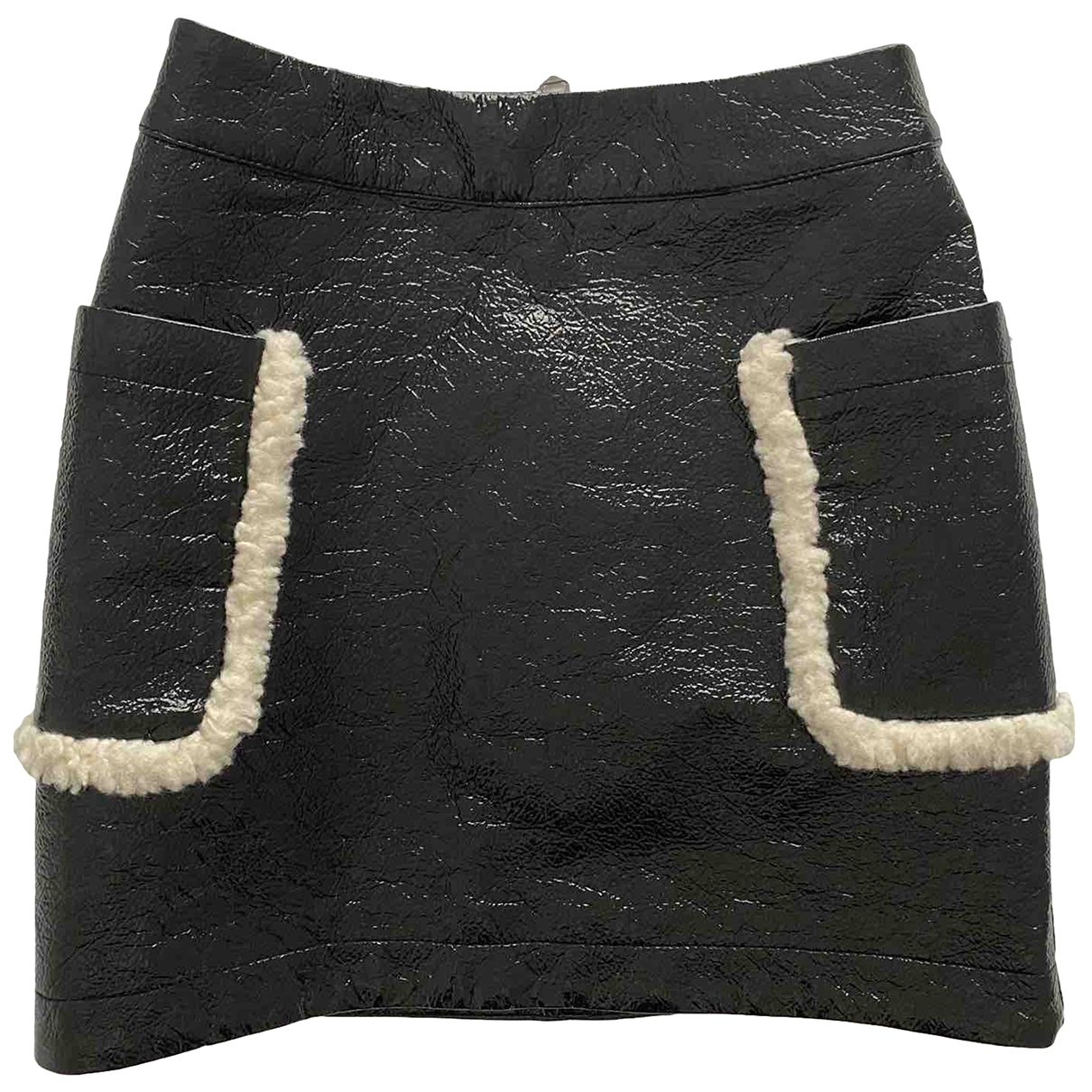 Monki \N Black Patent leather skirt for Women 34 FR
