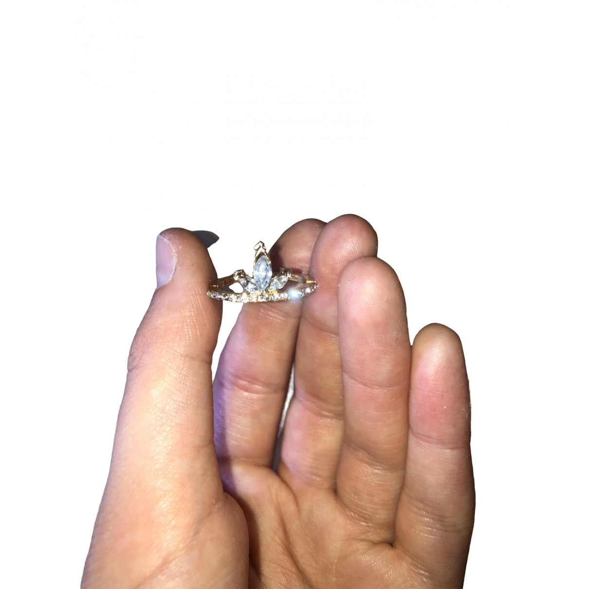 Non Signé / Unsigned \N Pink Metal ring for Women P ½ UK