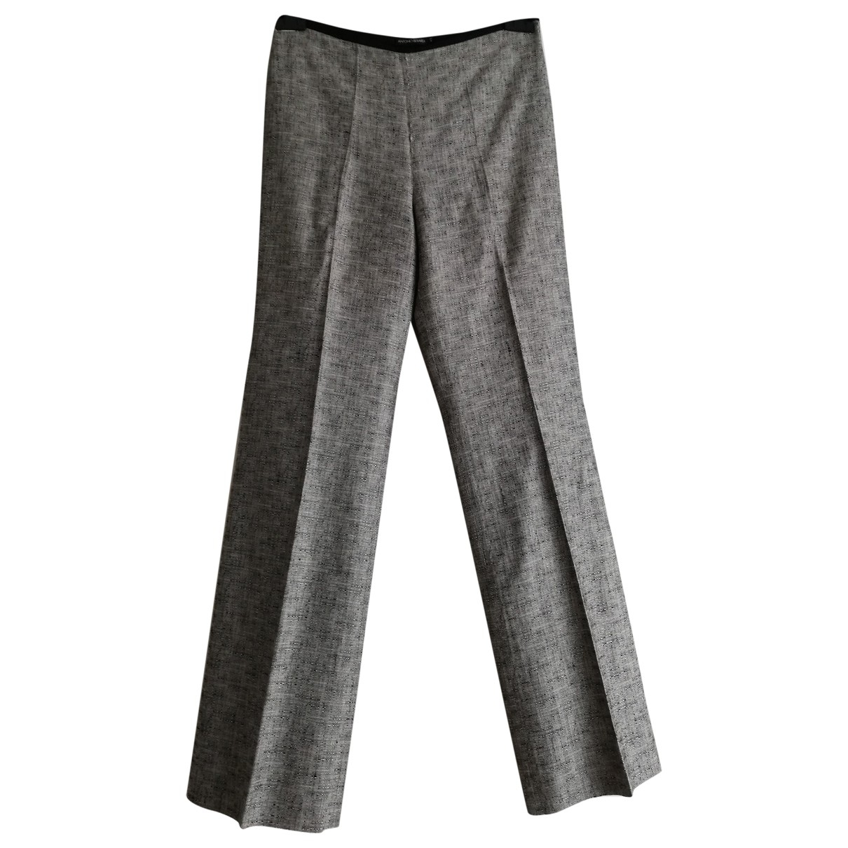 Antonio Berardi \N Black Trousers for Women 42 IT