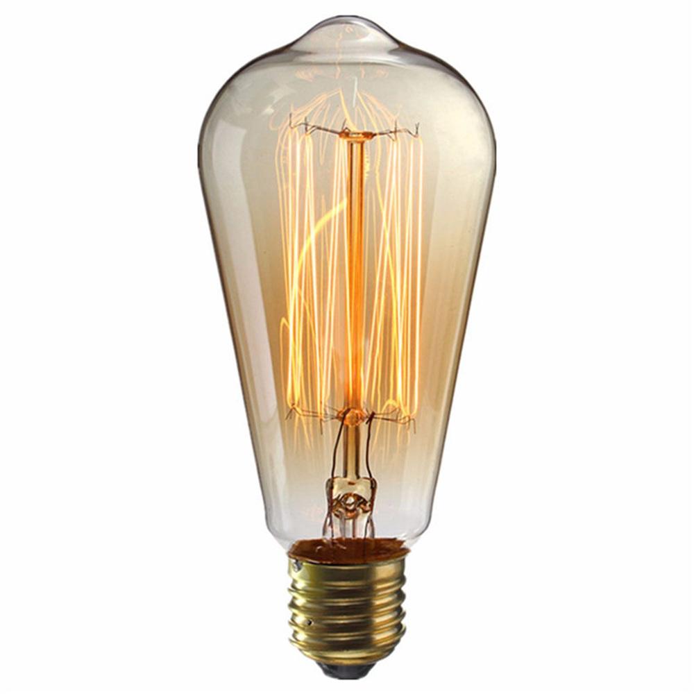 E27 ST64 40W Edison Bulb 330LM 110V 2700K Incandescent Filament Vintage Antique Light Bulb