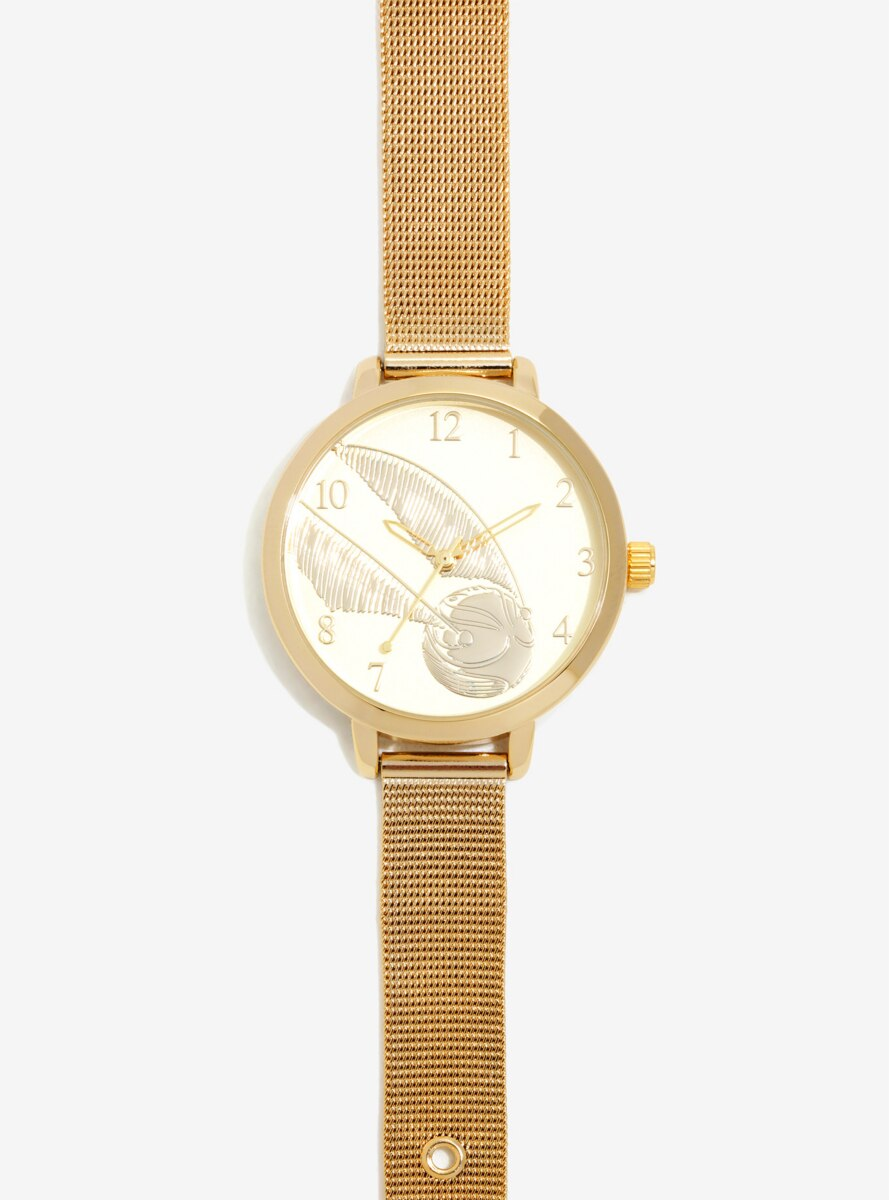 Harry Potter Golden Snitch Mesh Watch - BoxLunch Exclusive