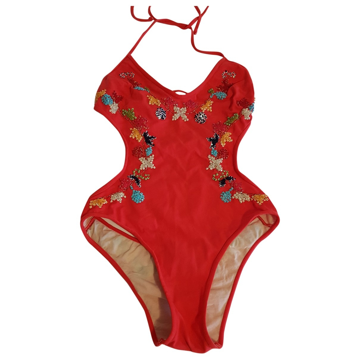 Non Signé / Unsigned \N Red Swimwear for Women 36 FR