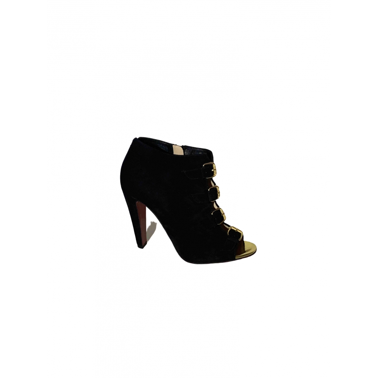 Christian Louboutin \N Black Suede Ankle boots for Women 37.5 EU
