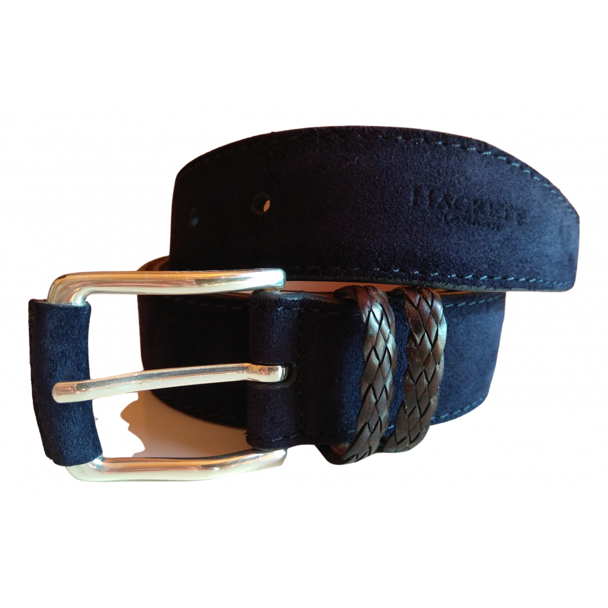 Hackett London \N Navy Suede belt for Men 90 cm