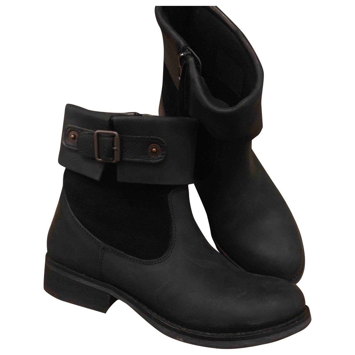 Levi's \N Black Leather Boots for Women 37 EU