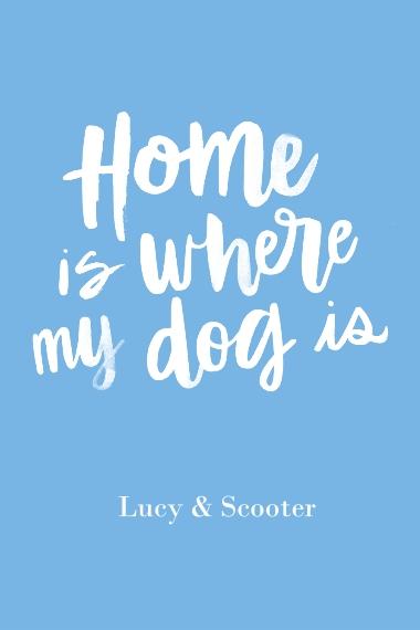 Non-Photo 12x18 Adhesive Poster, Home Décor -Home Dog
