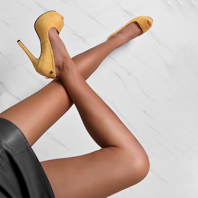 Ericdress Slip-On Peep Toe Ultra-High Stiletto Sandals
