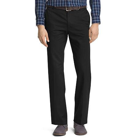 IZOD American Chino Mens Straight Fit, 34 32, Black