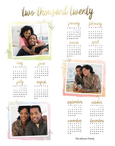 Calendar 11x14 Metal Panels, Home Décor -Artist Canvas