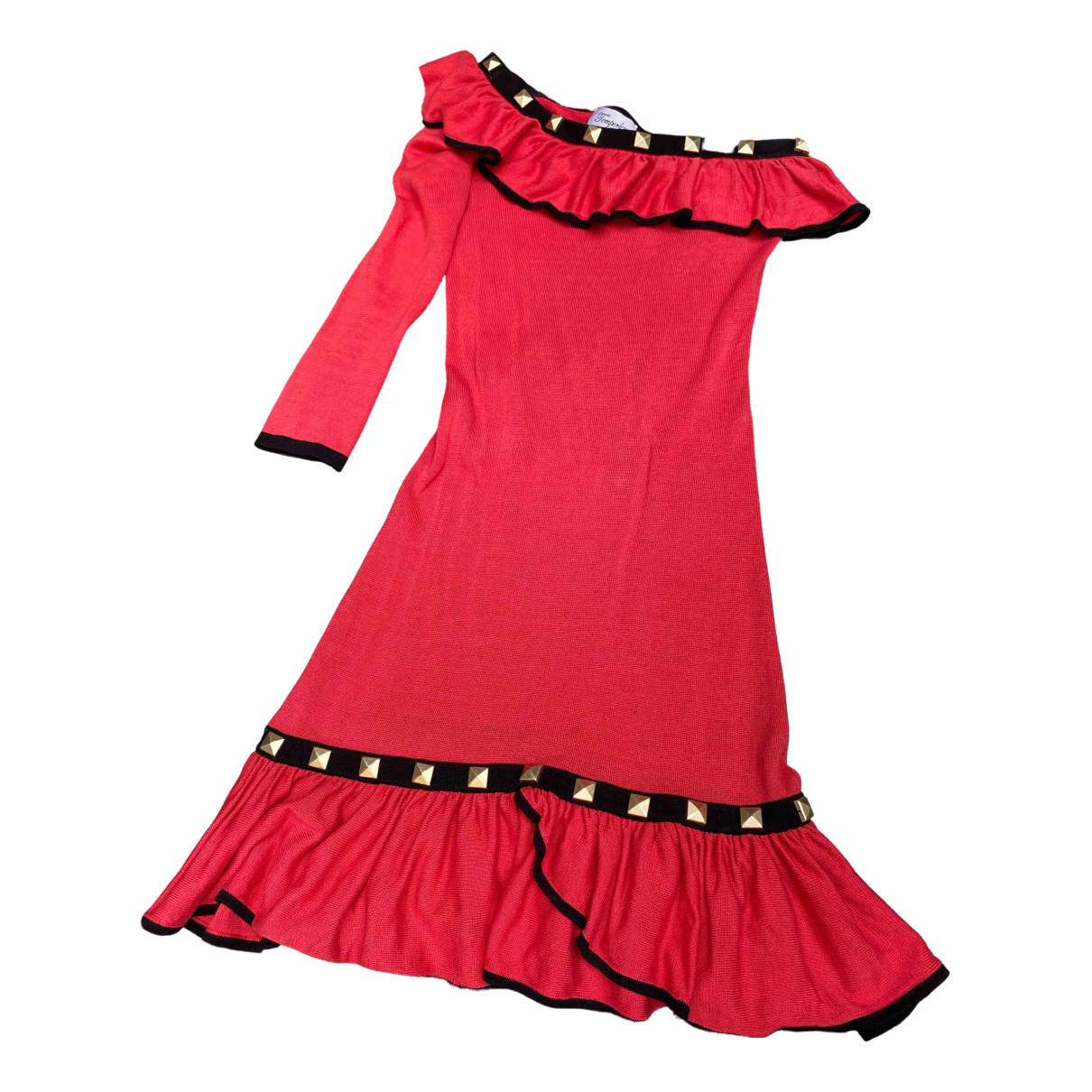Temperley London \N Red Cotton dress for Women 8 UK