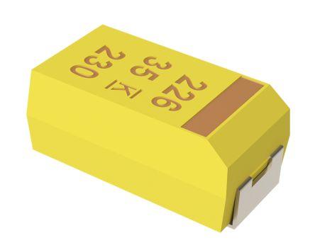 KEMET Tantalum Capacitor 6.8μF 16V dc MnO2 Solid ±10% Tolerance , T491 (10)