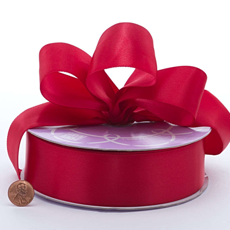 1 1/2 X 50 Yards Polyester Ruby Double Face Satin Ribbon by Ribbons.com