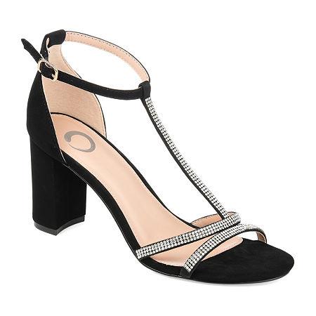 Journee Collection Womens Denali Pumps Block Heel, 7 1/2 Medium, Black