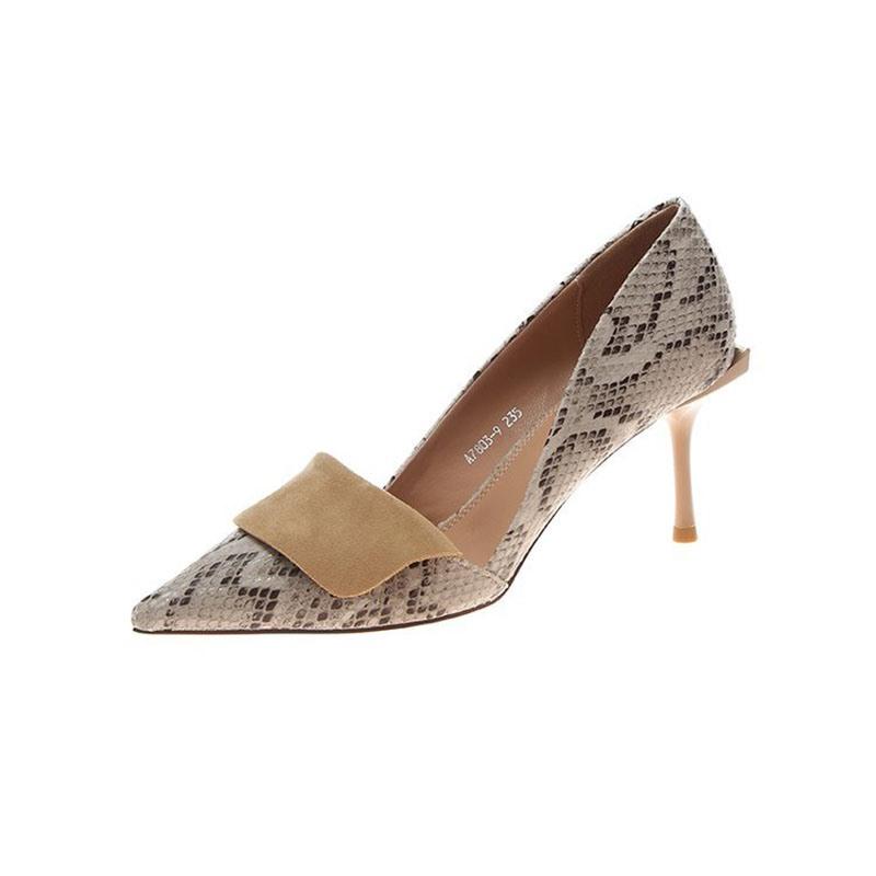 Ericdress Serpentine Pointed Toe Stiletto Heel Women's Pumps